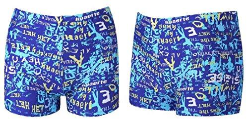 Men's Letters Printed Bermuda Quick Dry Beach Shorts Fashion Blue