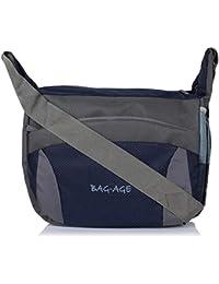Bag-Age Unisex 15 Ltrs Polyester Blue Messenger Bag