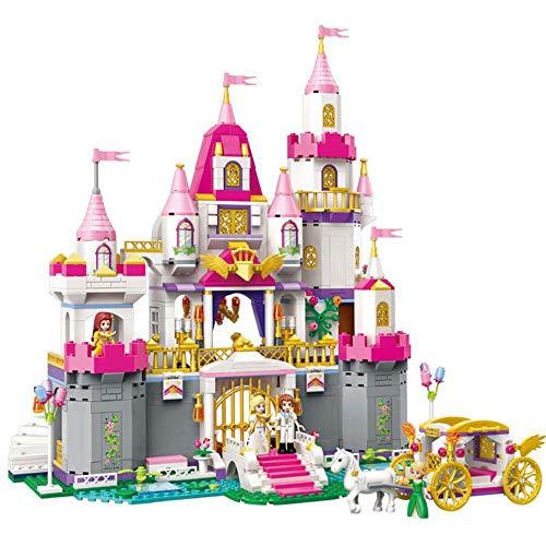 SPFTOY Intellektuelles Spielzeug 5-8 Jahre altes Mädchen Prinzessin Haus Rechtschreibung Burg Modell Bausteine - Alt-spielzeug Mädchen Für Jahre 5