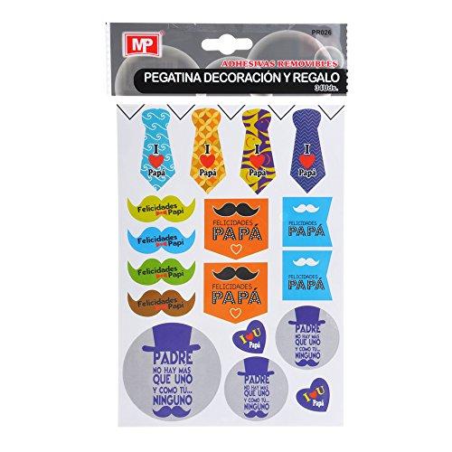 MP PR026 - Pack de 34 pegatinas de decoración, diseño día del...