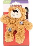 KONG Softies Patchwork Bear Cat Toy