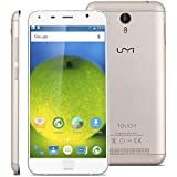 "Umi Touch - 4G LTE Smartphone Libre Multitáctil Android 6.0 (Pantalla HD 5.5"", 1.5GHz Octa Core, 3GB RAM 16GB ROM, 13.0MP Cámara, GPS, WIFI, Touch ID, Dual SIM) (Dorado)"