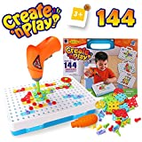 SYOSIN 3 Year Old Boys & Girls Toy  Kids Drill Set  Educational Toys Construction Tool Kit Building Blocks Fine Motor Skills Activity Center