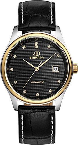 binkada beliebtes für Mann Auto Mechanische Schwarz Zifferblatt HIS Herren 's Armbanduhr # 7001N02-4