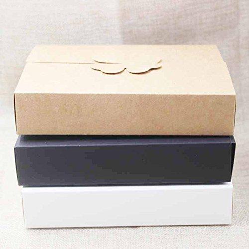 DIY geschenke box, weiß/kraft cookie kuchen hausgemachte display box, hochzeit gefälligkeiten dekoration paket box 10 stücke größe 17 * 13 * 3,5 cm (Cookie Display-boxen)