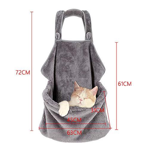 Pet Carrier Backpack Verstellbarer Tresor Cat Dog Front Bags Leichte Kopf Beine Schwanz aus Hände frei für Reisen Wandern Camping @ Sleeping Latzrock -