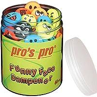 Pro \'s Pro Funny Face Pack de 60 Antivibración para raquetas