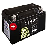 TECNO-GEL Motorrad-Batterie YTZ10S / YT10B-4 DIN 50901 für Honda, Kawasaki, Suzuki etc, 12V, 8,5 Ah, 150x87x93 mm