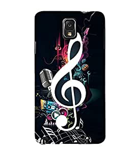Music Special 3D Hard Polycarbonate Designer Back Case Cover for Samsung Galaxy Note 3 N9000 :: Samsung Galaxy Note 3 N9002 :: Samsung Galaxy Note 3 N9005 LTE