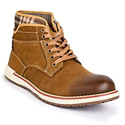 Action Shoes Mens Brown Leather Boots - 7 UK/India (41 EU)(NL-2519-BROWN)