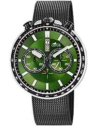 ce0974e1841a Lotus Reloj Cronógrafo para Hombre de Cuarzo con Correa en Acero Inoxidable  10139 2