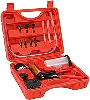 17pcs Professional Car Auto Hand Held Vacuum Pressure Pump Brake Bleeder Adaptor Fluid Reservoir Tester Vacuum