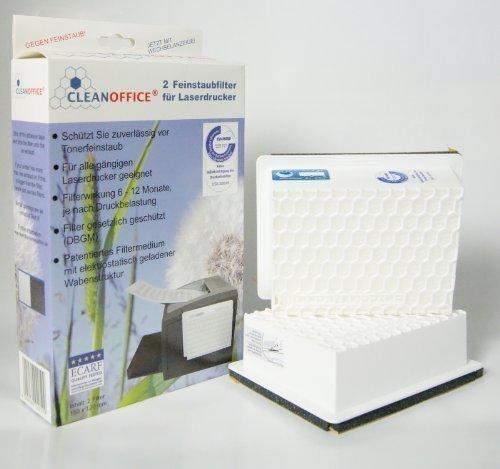 einfacher kopierer CLEAN Office Feinstaubfilter, 2er Set, für Laserdrucker