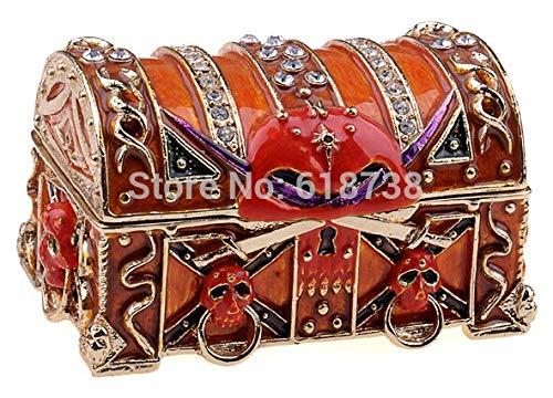 schatulle Fluch der Karibik Ornament Metall magische Schatzkiste Geschenke Ring Halskette Ohrring/Anhänger Display Box ()