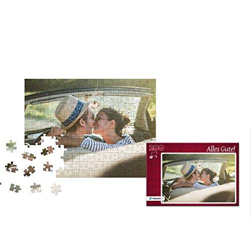 Fotopuzzle 100 bis 2000 Teile - Direkt Hier Gestalten - Das Puzzle mit eigenem Foto und individueller Geschenk-Schachtel (200 Teile, Schachtel: Herz Rot) - Foto Puzzle