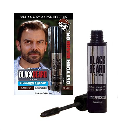 Colorante temporal para barba Blackbeard for Men de 12 ml, color marrón...