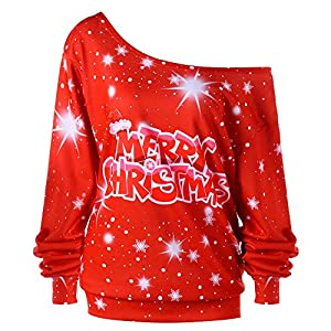 Fantaisiez Sweatshirt Femmes Imprimé Blouse Épaules Dénudées Col Oblique Pullovers Manche Longue Pulls Décontractée Blazers Automne Printemps Tops