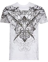 Sakkas Radley metallisch Gegensatz Flügel Herren T-Shirt