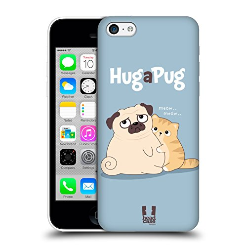 Head Case Designs What Piper Il Pug Cover Retro Rigida per Apple iPhone 7 Plus / 8 Plus Abbraccio