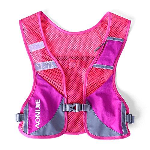 Imagen de aonijie  senderismo  hidratación maratón macho ligero chaleco escalada ciclismo , hot pink