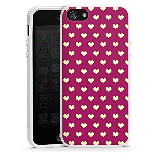 Apple iPhone 6 Housse Étui Silicone Coque Protection Petit c½ur Motif Motif Housse en silicone blanc