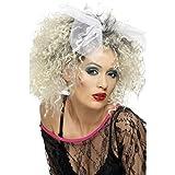 Perruque années 80 à boucles blondes avec boucle Postiche de femme Madonna moumoute d'ange boucles punk cheveux synthétiques de carnaval rock soirée costumée déguisement carnaval costume de femme accessoire