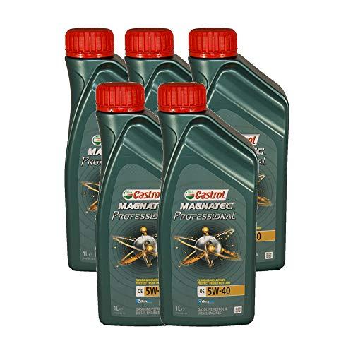 Castrol Magnatec Professional OE 5W40 - Olio per Auto, Lubrificante 5W-40 5 Lit