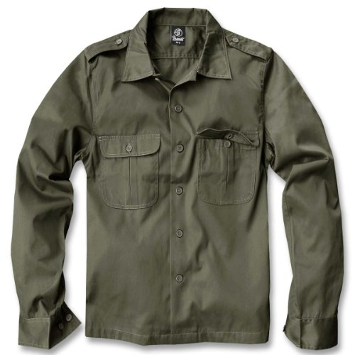 hundeinfo24.de Brandit US Hemd Langarm Oliv – XL