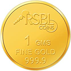 RSBL 1 gm, 24k (9999) Yellow Gold Ecoins Precious Coin