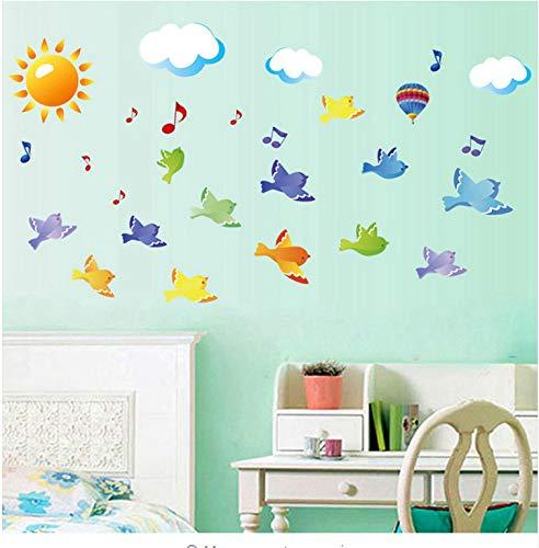 Wandtattoo Vögel Auf Dem Himmel Ss Für Kinder Zimmer Baby Kids Kinderzimmer Dekor Home Decor