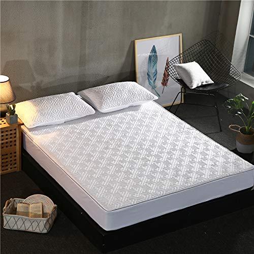 SUYUN Mikrofaser-Spannbettlaken, Super-King-Size-Betten, Baumwolle, Traum-Labyrinth, 100 x 200 cm, Perlweiß (King-size-bett Kiefer)
