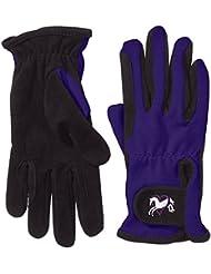 Riders Trend 1007064-BLKPRP-M - Guantes de equitación para mujer, color negro / violeta, talla M