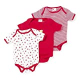#6: EIO® Mini Berry Short Sleeves Cotton Sleep Suit Romper Set of 3 For Boys (RED, 6-9 months)