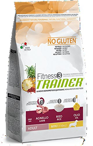 Natural Trainer Trainer Fitness 3 No Gluten Mini con Agnello Riso e Olio 7,5kg, Multicolore, Unica