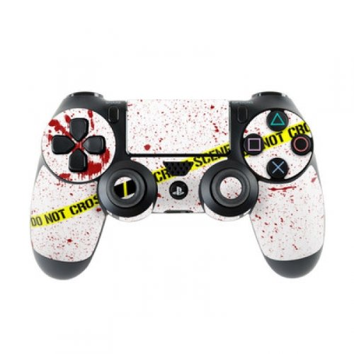 Skins4u Sony Playstation 4 Skin PS4 Controller Skins Design Sticker Aufkleber styling Set auch für Slim & Pro - Crime Scene Revisited