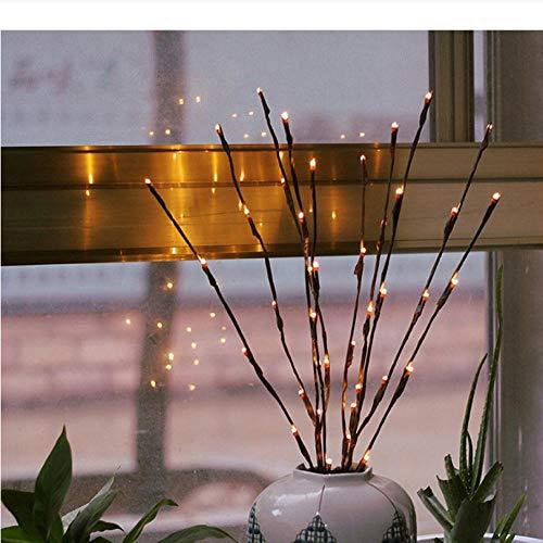 LED Weide Licht Vase gefüllt Weidenruten beleuchtet Zweige Weihnachten Hochzeitsdekoration Lichter - Beleuchtete Weiden