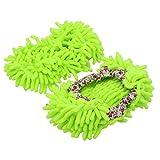 Pinzhi Mikrofaser Staubtuch Hausschuhe Putz Pantoffeln Schuhe Bodenreiniger Mop (Grün)