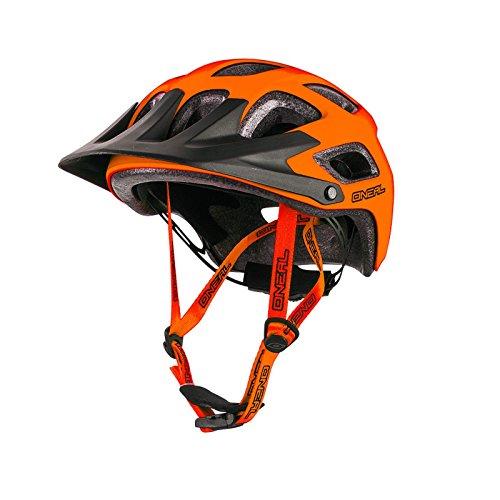 O'Neal Thunderball MTB Fahrrad Helm Matt Orange Magnetverschluss Kinder und Erwachsenen Helm, 0007-1, Größe M/XL (57-60 cm)