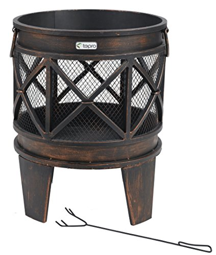"tepro 1127 ""Gracewood"" Fire Basket - Bronze (12-Piece)"