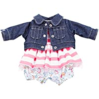 Gotz 3402660 Baby Doll Combo Vacanze - Size M - Dolls Clothing / Accessory Set - Suitable For Baby Dolls Size M (42 - 46 cm)