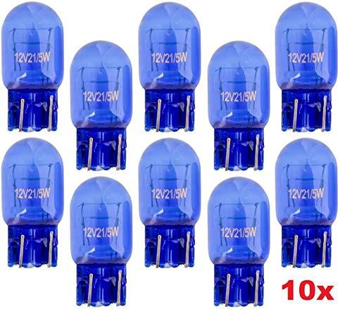 10x Stück - T20 - W21/5W - W3x16d - 21/5W - 12V - SUPER WHITE KFZ Beleuchtung Tagfahrlicht Glühlampe Glühbirne Soffitte Autolampen/chiavi