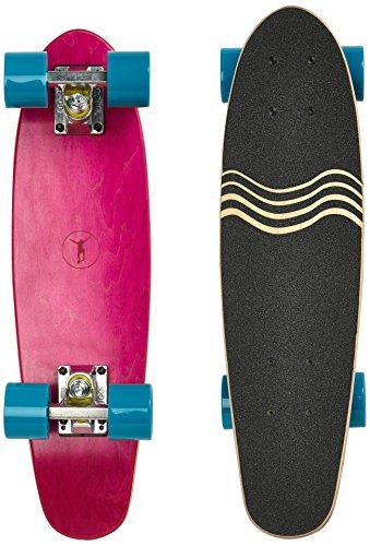 Ridge Skateboard Regal Series Laser Cut Mini Cruisers, Rosa/Blau, 22 Zoll, R
