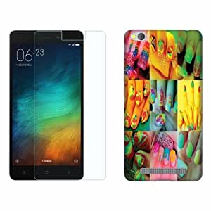 Printland Tempered Glass + Back Cover Combo For Redmi 3S