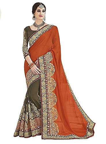 SareeShop Women's Georgette saree for women New Collection 2018 with Blouse Piece...