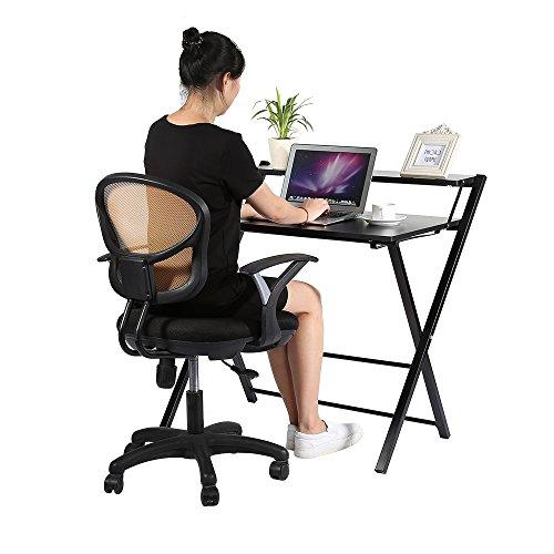 Yosoo Plegable Mesa Escritorio de Computadora, PC, Ordenador Portátil para trabajo en Casa o Oficina (Negro)