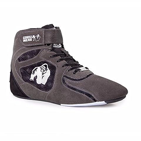 Gorilla Wear Bodybuilding Chaussures Hauts Tops Noir et Rouge (Gris, 44)