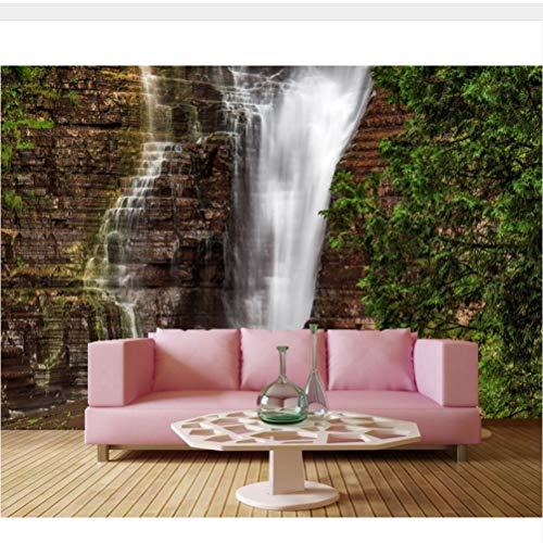 Meaosy Große Wandbilder, Wasserfälle Crag Quebec Nature Tapete, Restaurant Wohnzimmer Sofatv Hintergrund Schlafzimmer 3D Tapete-450X300Cm