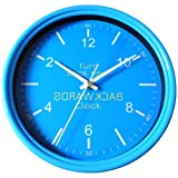 Bunkerbound Backwards Clock, Blue