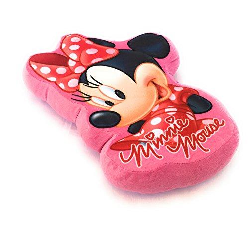 Minnie Kissen Fantasie Kinder-3Maße-Polyester Qualität Velours Mouse-Disney (Mouse Minnie Kissen)