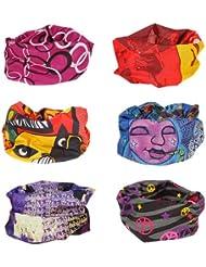 Bundle Monster Ensemble multifonctionnel 6 mcx sans couture bandeau à cheveux foulards bonnet- Ensembles variés